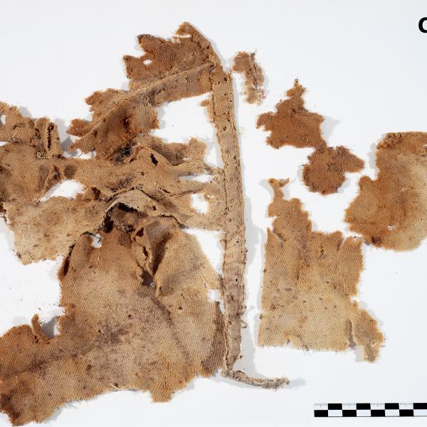 Tela de llana corresponent al segle XVI (Autors: Carles Aymerich i Ramon Maroto Centre de Restauració de Béns Mobles de Catalunya)