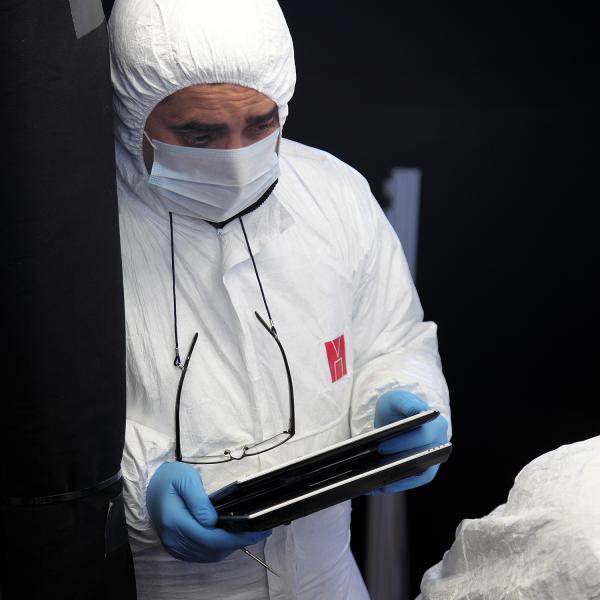 Procés de documentació de les restes mitjançant suports i tècniques informàtiques (Autor: Marisol Cidrás)