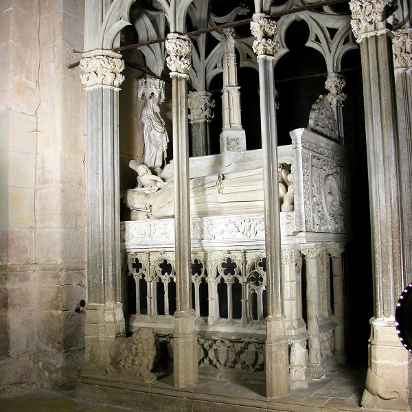 Tomba de Jaume II i Blanca d'Anjou al monestir de Santes Creus (Autor: Marisol Cidrás)