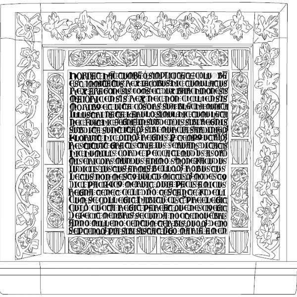 Calc de l'epitafi de Jaume II (Autor: Joaquim Tremoleda)