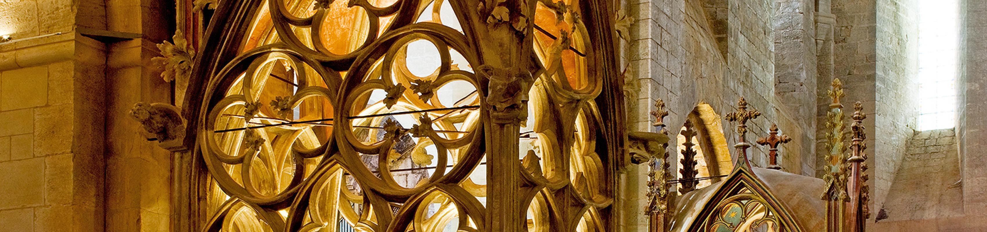 Monument funerari de Jaume II i Blanca d'Anjou (Autor: Pepo Segura)