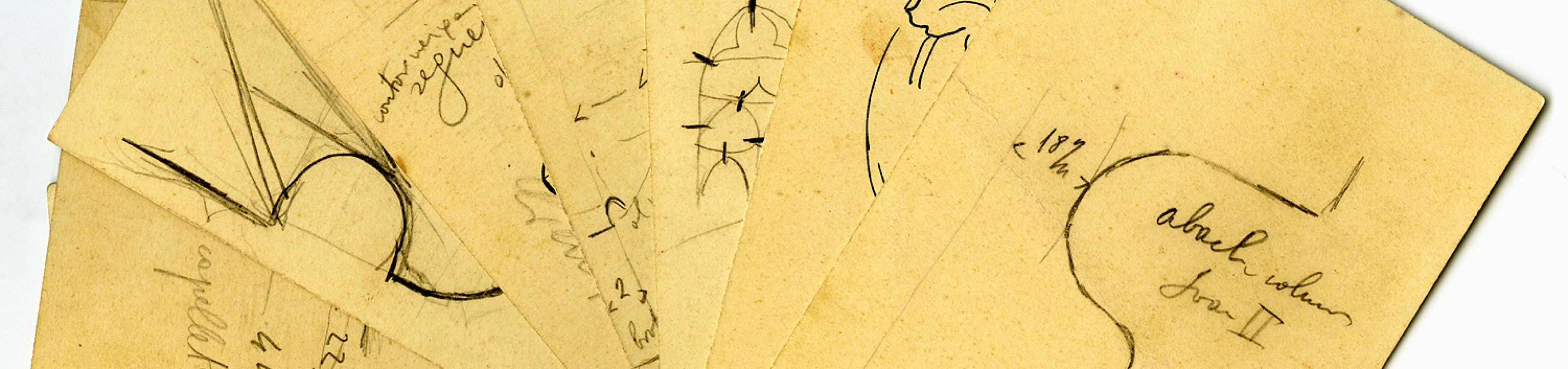 Estudis i mesures de les tombes reials realitzades per Rubió i Bellver. COAC. Fons Rubió i Bellver C/1849/2.2